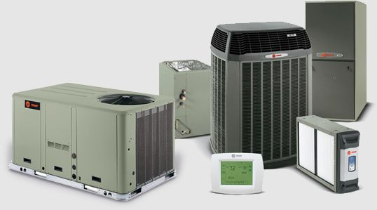 we install trane and light commercial cooling and heating systems